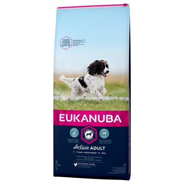 Eukanuba Active Adult Medium Breed 12 kg