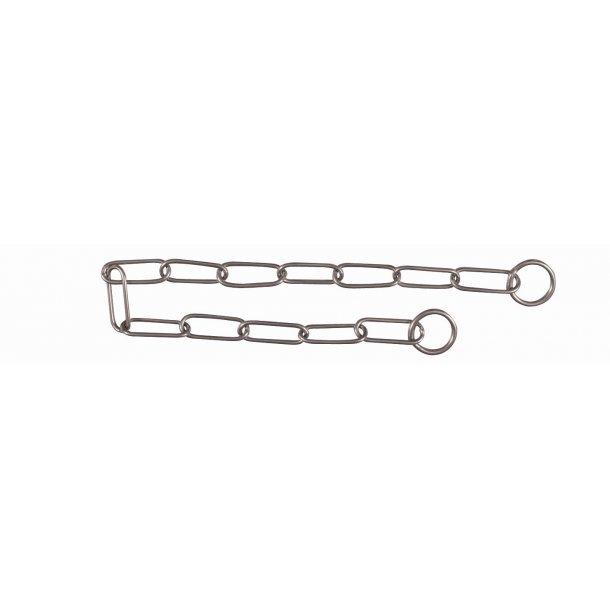Kvælerhalsbånd med lange led i rustfrit stål Flere Længder