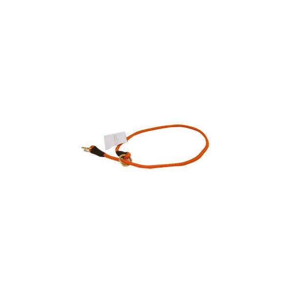 Dressurhalsbånd i Orange med refleks Nylon Flere længder