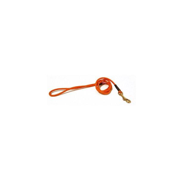 Dressurline i Orange med refleks Nylon 120 cm